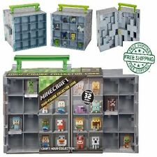 MINECRAFT Mini Figure Collector Case Action Safely Store and Display Figures NEW
