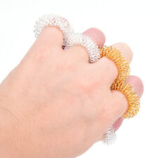5 PCS Finger Massage Ring Acupuncture Rings Health Care Body Massager Useful $_$