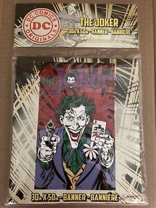 DC Comics Originals The Joker Banner 30in x 50in  NEW & SEALED