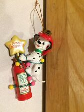 FIREMAN Dalmation Dog on Fire Extinguisher Christmas Tree Ornament Collectible