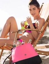 NEW Victoria's Secret $65 Pink/Black Neoprene Insulated Beach Cooler Tote Bag