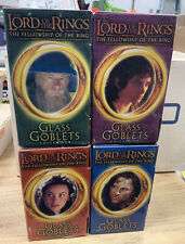 Vintage Burger King Lord Of The Rings Fellowship Glass Goblet 4 Pc Set 2001