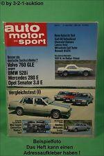 AMS Auto Motor Sport 11/82 * Mercedes 500 SL Rallye Chevy Camaro Volvo 760 GLE