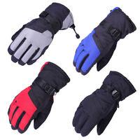 Taslan Men Winter Thicken Warm Waterproof Plush Motorcycle Ski Snowboard Gloves