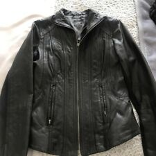 75d265537df0 OASIS women real ruched leather petite leather biker jacket size UK 4 OR UK  6
