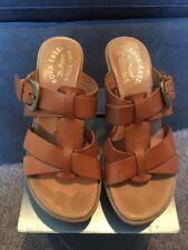 Kork-Ease Strappy Buckle Slide Saddle Leather 36.5 Or 6 M/W