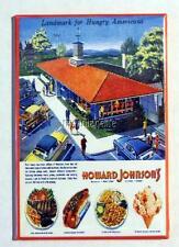 """Vintage HOWARD JOHNSON'S Ad  2"""" x 3"""" Fridge MAGNET Art"""