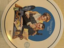 """New ListingKnowles Norman Rockwell Decorative Collector Plate """"Gentle Reassurance"""" 1992"""