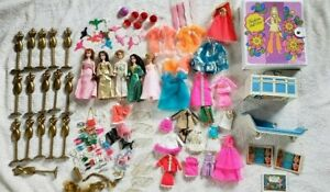 1970's DAWN TOPPER DOLLS HUGE LOT, 5 DOLLS, CASE, ACCESSORIES, OUTFITS, POODLES