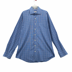 Peter Millar Men's Long Sleeve Dress Shirt Size L Large Cotton Multi Color