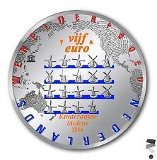 Nederland 5 euromunt 2015 Molen in kleur