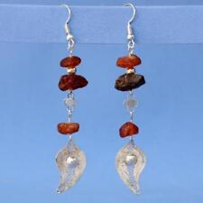 Silver filigree Earrings with Antique Natural amber vintage Filigree one of kind