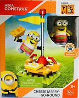 Mega Construx Despicable Me 3 Minion Cheese Merry-Go-Round 32 pcs Build Beyond