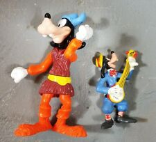 "Disney goofy lot of 2 Applause pvc Band Goofy banjo 2.75"" Epcot viking goofy 4"""