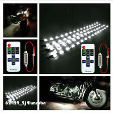 """4x 12"""" ATV Flexible 15 LED Strip Light White With Wireless Remote For Arctic Cat"""