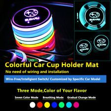 2pcs Colorful LED Coaster Atmosphere Car Part Light Bulbs For Subaru Neon Lights