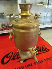 1870 Antique Handmade Russian Brass Samovar Tea Pot Kettle Persia Russia