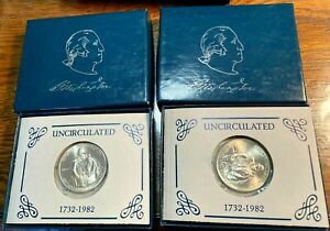 1982 George Washington Unc Silver Commemorative Half Dollar Best Price Ebay CHN