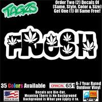 White CCI213 THC Molecule Marijuana Weed Vinyl Decal Sticker 6 X 3.5 in