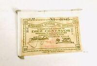Mexican Bill Billete Mexicano Diez Centavos 1913 Francisco Villa