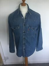 Levis Denim Western Shirt S Small Levi Strauss Levi's
