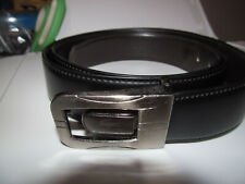 """AUTHENTIC LACOSTE ALLIGATOR BROWN LEATHER WORK DRESS BELT 48/120-39"""" to 42"""" XL"""