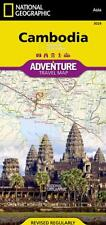 Cambodia Adventure Travel Map National Geographic Waterproof
