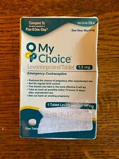 My Choice Levonorgestrel Tablet 1.5mg, emergency Contraceptive Exp 11/2020