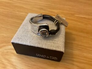 """NWT Uno de 50 Silver-plated/Brown Leather Bracelet w/ Toggle  Restamp"""""""