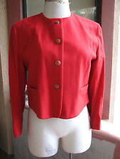 New With Tags Nicolas Charles LONDON Sz 18 Cropped Career Red Wool Jacket (hg)