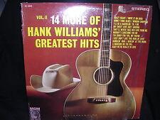 Hank Williams 14 More Of Hank Williams' Greatest Hits Vol. II G+/G+ Free Ship