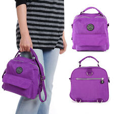 Blue Purple Black Nylon Zip Handbag Cross Body Bag Travel Shoulder Bag Satchel