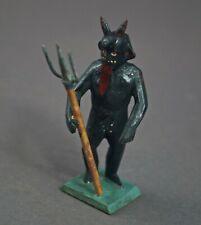 Grulicher Krippenfigur, Krampus / Teufel, 7 cm - Holz geschnitzt   (# 11654)