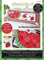 KimberBell Machine Embroidery CD ~ In the Hoop Bench Pillow ~ Summer ~ KD522