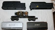 Lot of (4) Lionel Tender Shells and (1) Whistle Motor For Parts or Repair