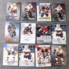 Lot of 12 Original Ottawa Senators Hockey NHL Cards Signed Autograph