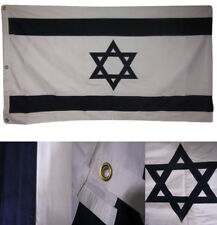 3X5 Embroidered Sewn Israel Israeli Star 100% Cotton 3'x5' Flag Grommets
