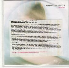 (EQ595) Maximilian Hecker, Misery - 2009 DJ CD