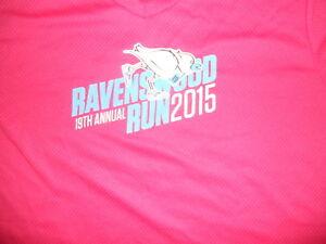 Mizuno Running Shirt Ravenswood Run 2015 Moisture Wicking Womens Fleet Feet PINK