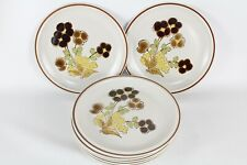 """Floral Expressions Hearthside Stoneware Foliagetime 7.75"""" Salad Plate Set of 6"""