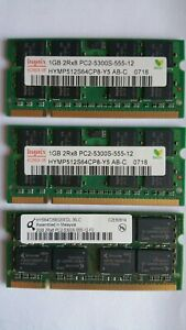 2GB 2R×8 pc2 5300s-555-12FO OEM Sodimm Memory RAM/DDR2 & 2 pieces of 1GB