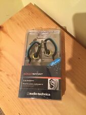 SONICSPORT IN-EAR HEADPHONES AUDIO-TECHNICA BLUE WITH YELLOW