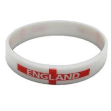 Inglaterra Pulsera Fútbol Rugby Cricket Bandera partidarios de goma para adultos de tamaño