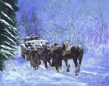 82nd Airborne Division advance winter 1944 Print