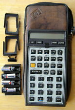 REBUILT HP-41CV CALCULATOR  SOFT CASE, 5 PORT COVERS  AND BATTERIES..WORKING