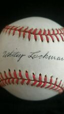 Whitey Lockman Autographed Official National League Baseball Ball Rare