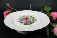 Antique French Old Paris Porcelain Footed Bowl Compote Centerpiece Hand Painted