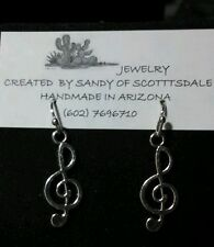 FOR MUSIC LOVERS - silver-plated   music earrings by Sandy of Scottsdale