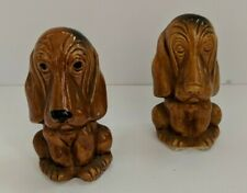 """Dog Hound Antique Salt and Pepper Shakers Bottom Large Vintage Collective 4""""tall"""