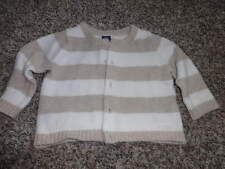Janie And Jack 3-6 Brown White Striped Sweater Signature Layette